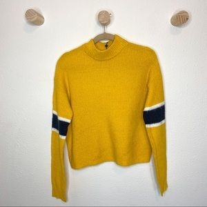 John + Jenn Varsity striped crew neck sweater
